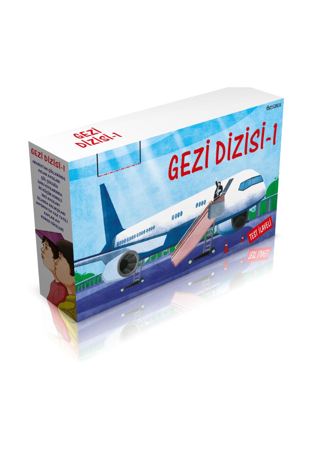 Gezi Dizisi-1 (10 Kitap + Test İlaveli)